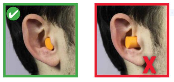 cómo usar protectores auditivos