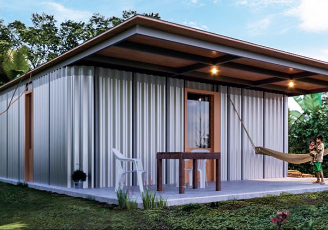 cómo hacer una casa de lámina